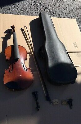 Old German Wilhelm Duerer Violin, Repair - For Parts Vintage Beautiful Back