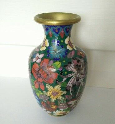 Vintage Asian Chinese  cloisonne vase small