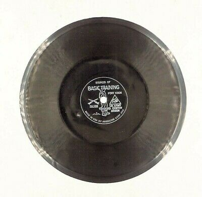 Sounds of Basic Training FORT KNOX  7 Inch Record 33 1/3 thin  Military Army VTG