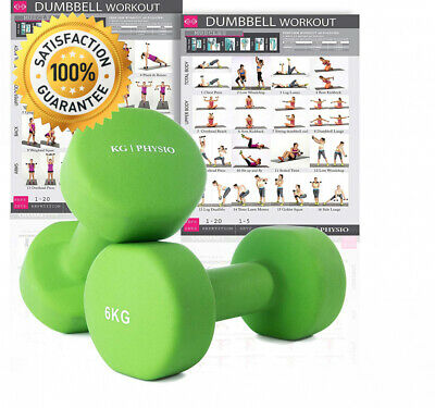 KG Physio Premium quality dumbells weights for women and men, sold as a set...