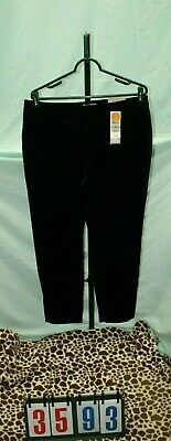 Charter Club Classic Fit NWT  $79 Black Velvet  New Pants Womens Size 12