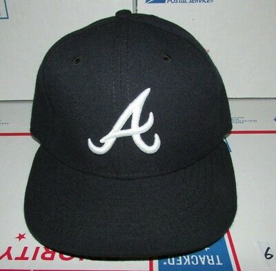 006f5e639a1 New Era Atlanta Braves Road Fitted Baseball Hat 59Fifty On-Field Cap Size 6  7
