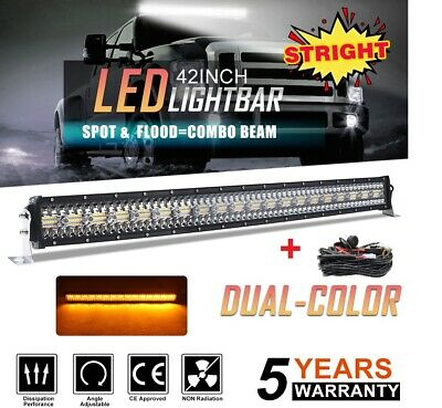 42INCH 3360W Trip ROW LED LIGHT BAR COMBO BEAM OFFROAD 4WD TRUCK ATV 40""