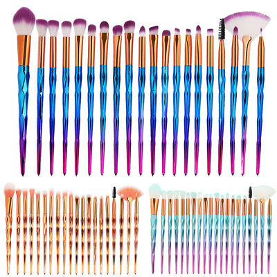 4/10/20PCS Unicorn Makeup Brushes Foundation Blush Face Powder Eye Shadow Brush