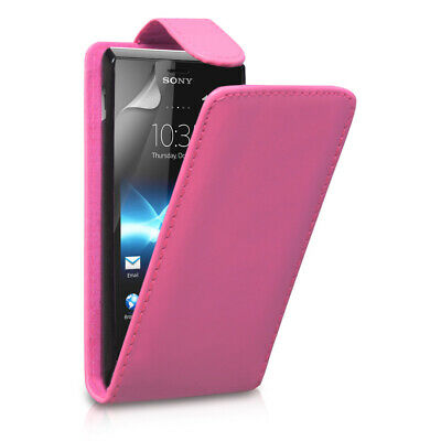 For Samsung Galaxy S5 Mini / SM-G800 - Leather Effect Top Flip Case