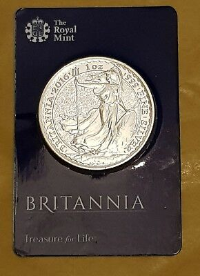 2016 £2 Two Pound Coin Britannia Uk One Ounce Silver Bullion