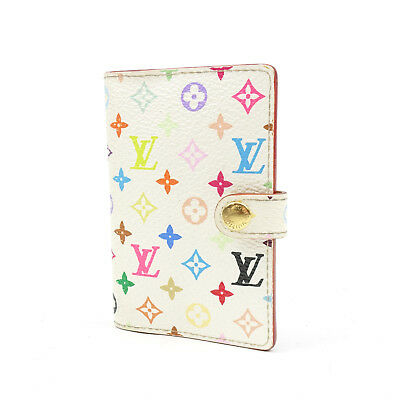 Auth LOUIS VUITTON Multicolor Carnet de Bal Mini Agenda Blanc M92653 Used F/S