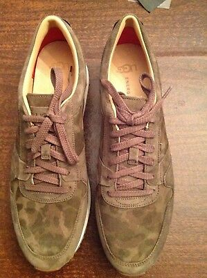 9adfdf8ee8845 UGG Men's Trigo Brown-Green Suede Camo Fashion Sneakers Size: 11.5M New in