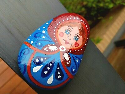 Hand Painted Rock - Russian Matryoshka Doll