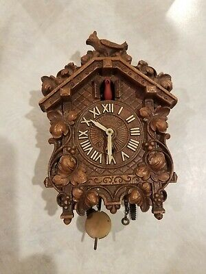 Lux Miniature Cuckoo Clock For Parts Or Restoration