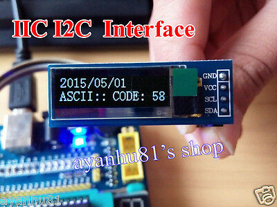 "IIC I2C 0.91/"" 128x32 white OLED LCD Display Module 3.3v 5v For Arduino YA56"
