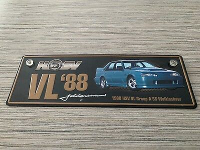 HSV 1988 VL Group A SS number plate. Walkinshaw Hand Signed By John Crennan