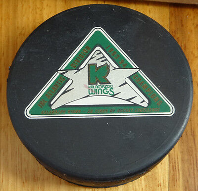 IHL 1993-94 Kalamazoo Wings Omni-Sports Official Licensed Product Puck