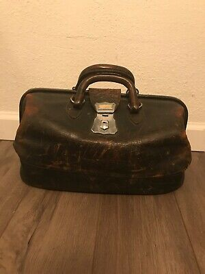 Vintage Doctors Bag Genuine Brown Leather