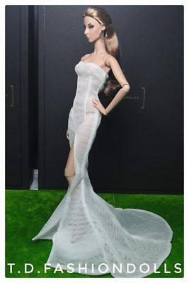 Gown Outfit Dress  new for   barbie model  silkstone by t.d.fashion