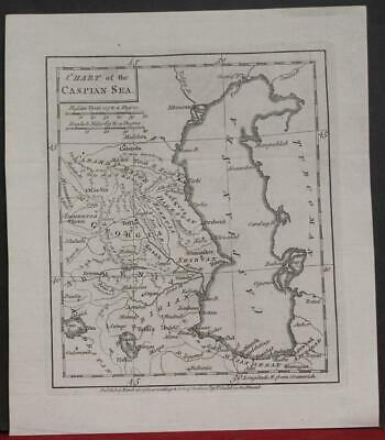 Caspian Sea Russia Georgia Armenia Iran 1784 Cadell Antique Copper Engraved Map
