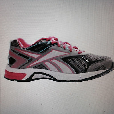 New Womens Reebok Quickchase Grey  Pink Blue Memory Tech Running Shoes   Size 6.5 debe82524