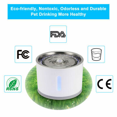 2.4L Pet Water Filter Dispenser Cat Dog Fountain Healthy Hygienic Drinking