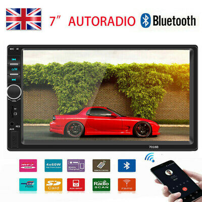 """7"""" Double 2 Din Car FM MP5 Player Bluetooth Stereo Radio USB AUX For IOS Android"""
