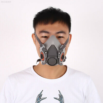 5BD4 Dustproof Half Face Gas Mask Painting Spraying Protection For 3M 6100 6200
