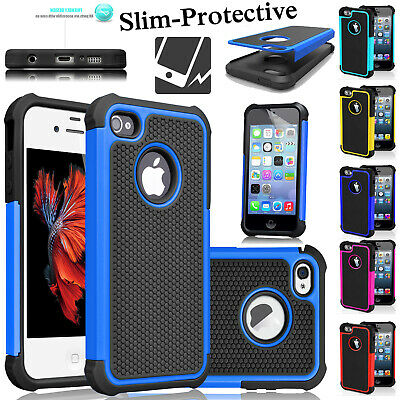 Protective Ultra-Slim Workman Case Shockproof Silicone Cover For iPhone 4, 5, 5C