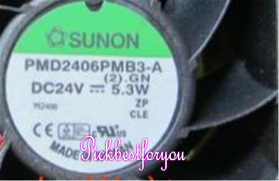 SUNON PMD2406PMB3-A DC24V 5.3W 3pin 60*60*38MM Daul ball cooling fan #Mp79 QL