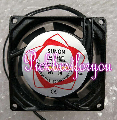 SUNON SF8025AT P/N2082HBL fan AC220~240V 0.10A 15/17W 80*80*25MM 2pin #MB58 QL