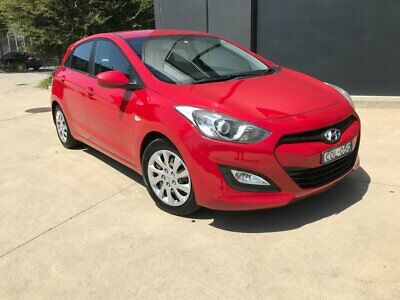 2013 Hyundai i30 GD Active Hatchback 5dr Spts Auto 6sp 1.6DT Red Automatic A