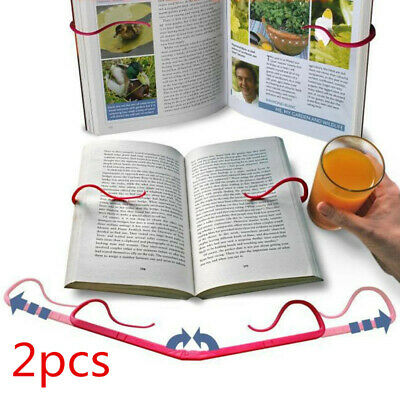 2Pcs Hands Free Reading Tool Book Holder Folding Stand Holds Pages Open Clip