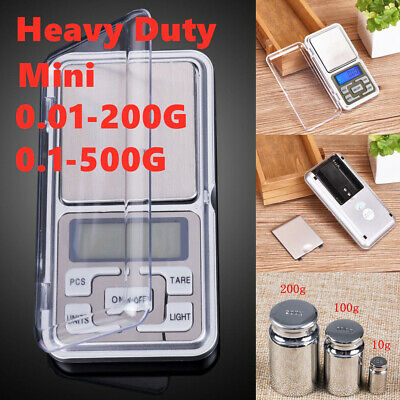 Small Mini Electronic Pocket Digital LCD Weighing Scales for Food Jewellery