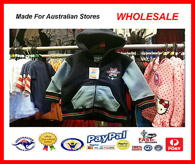 AUS WHOLESALE BABY KIDS CLOTHING 50PC Boys Polar Fleece Jacket MYER RP $29.99