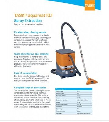 TASKI® Aquamat 10.1 Spray Extraction Carpet Cleaning Machine (240volts)