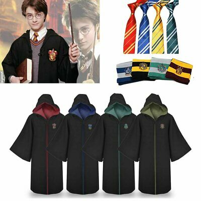 Adult Harry Potter Costume Gryffindor Slytherin Robe Cloak Carnival Cosplay Sets