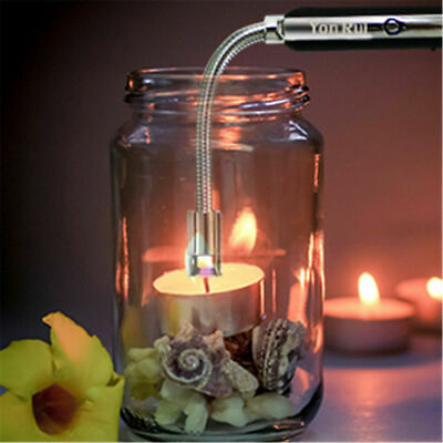 Arc Plasma Rechargeable USB Candle BBQ Fire Lighter New wind proof Electric