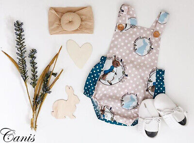 UK Cute Newborn Baby Girls Clothes Easter Bunny Romper Bodysuit Jumpsuit Outfits
