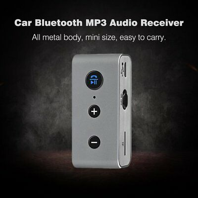 Car Wireless Bluetooth 3.5mm AUX Stereo MP3 Music Audio Receiver Adapter LOT QV