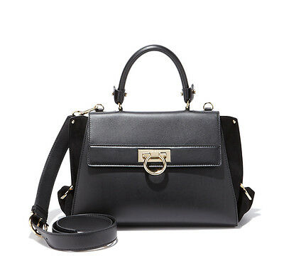 0be9f7a1c1b NWT  2,250+ Salvatore Ferragamo SOFIA Black Leather Satchel Shoulder Bag  Purse