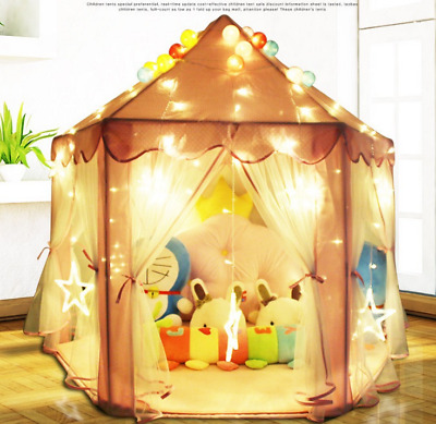 Large Cotton Lace Kids Teepee Tent Baby Wigwam Playhouse Indoor Outdoor Game UK