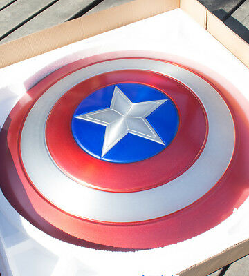 Metal Made 1/1 Captain America Perfect Shield Metal Prop Cosplay 60cm