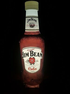 Collectable Jim Beam And Cola Light Bottle Bar Man Cave