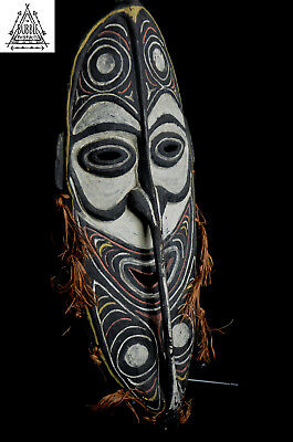 Stunning Fine Ceremonial Gable Mask, Northern Grasslands, Papua New Guinea, PNG