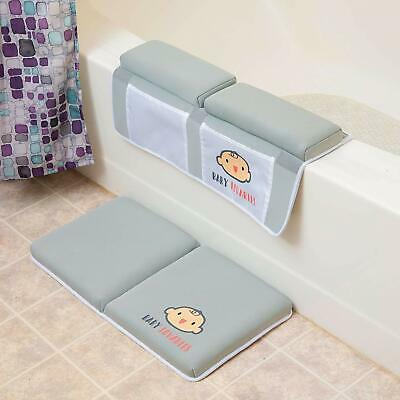 Bath Kneeler with Elbow pad Rest Set- Padded Knee mat for tub Bathing and Bathro