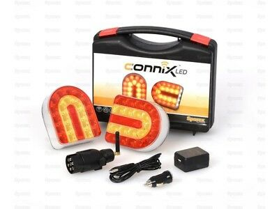 Connix LED Magnetic Wireless Cable Free Trailer or Implement Light Set FREE POST