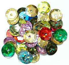 Craft Factory CF01/40907 | Mulit-colour Hologram Cup Sequins | 8mm | approx 5g