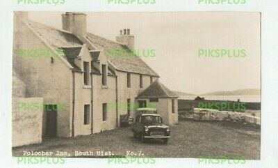 Postcard Polochar Inn South Uist Island Outer Hebrides Scotland Real Photo 1950S