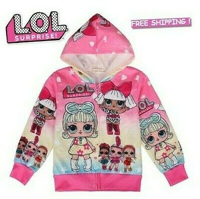 6249dffd5 LOL Surprise Girls Toddler Hoodie Sweatshirt Kids L.O.L Doll Pink Long  Sleeve