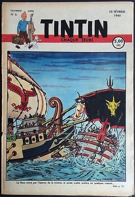 TINTIN Edition belgian issue n°6 du 10 february 1949 Good condition