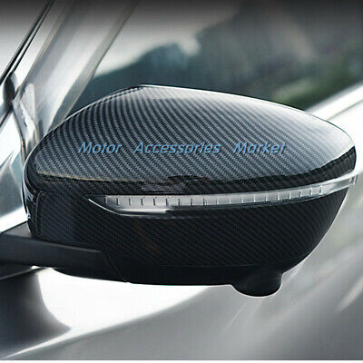 New Carbon Fiber Rearview Mirror Cover For Nissan Rogue Sport Murano Pathfinder