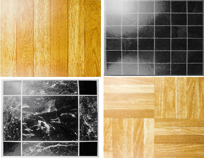 Adhesive Vinyl Floor Tiles, Self Stick On Flooring, Kitchen, Bathroom,Effect