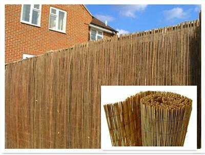 Natural Peeled Reed Screening Roll Garden Screen Fence Fencing Panel - 4m Wide